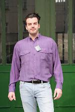 Arpino camicia di seta camicia taglia M SETA 90er True Vintage 90´s MEN SHIRT 100% SILK NOS