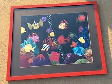 Framed Peg McInnis, Scratchboard Illustration signed & numbered 37/500 fish