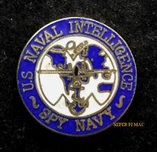 US NAVAL INTELLIGENCE SPY HAT LAPEL PIN USS USN US NAVY GIFT NIS FMF INTEL WOW
