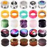 PAIR Stone&Steel&Wood&Silicone&Acrylic Ear Gauges Plugs Tunnels Piercing 2g-1''