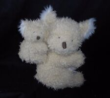 "9"" GYMBOREE 2004 MOM & BABY CREME & WHITE KOALA STUFFED ANIMAL PLUSH TOY LOVEY"