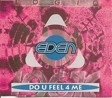 EDEN DO U FEEL 4 ME CD SINGLE 4 MIXES 1992 LOGIC RECORDS
