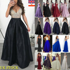 Womens Evening Party Vintage Sleeveless Swing Maxi Long Dress Cocktail Prom Gown