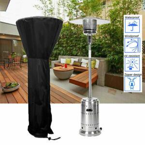 Outdoor Black Patio Gas Heater Cover Protector Garden Polyester Waterproof 2SIZE