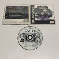 Casper (Sony PlayStation 1, PS1 1996) Complete w/ Manual Tested Black Label