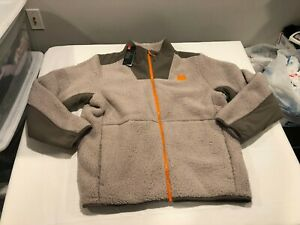 NWT $130.00 Under Armour Mens Legacy Sherpa Full Zip Jacket Brown / Tan Size 3XL