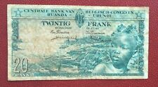 Congo Belge - Belgique -  Joli Billet de  20 Francs du 01-06-1959