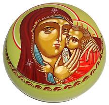 Boite Icone religieuse La Vierge et Jesus, Icone chrétienne russe La Vierge