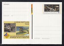 F 01 ) 2 beautiful PS Card: Dinosaur, Turtle, Snake, Owl, Monkey, Fish