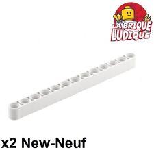Lego Technic - 2x Liftarm 1x13 thick épais blanc/white 41239 NEUF