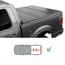 5.5FT bed Hard Tri-Fold Tonneau Cover For 2015-2018 Ford F-150 Styleside Lock