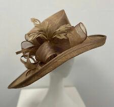 New Ladies Outdoor Occasion Wedding Formal Coffee Fascinator Diana Hat