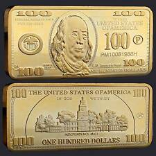 USA 100 Dollar Barren Gold Plated in Münzkapsel