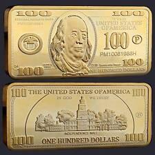 USA 100 Dollar Barren Gold Plated in Münzkapsel