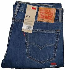 "Levis 505 Regular Fit Jeans Medium Blue Stonewash #4891 """""" Many Sizes """""""