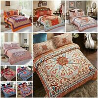 Luxury Bedding Set Bohemian Duvet Cover Set With 2 Pillow Cases Double King Size