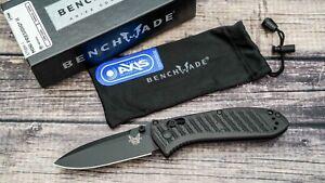 Benchmade Mini Presidio II, Black Coated CPM-S30V, CF-Elite Scales, 575BK-1