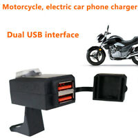 Dual USB QC 3.0 Fast Charger With Switch Waterproof for Motorcycle ATV Scooter