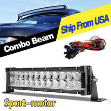 14inch LED Work Light Bar Spot Flood +Harness for Jeep Truck Marine Pickup 16''