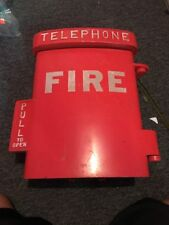 RARE VINTAGE CAST IRON FIRE TELEPHONE EMERGENCY FIRE CALL BOX