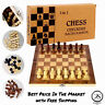 Wooden Chess Set International Folding Magnetic Chess Board Game Checkers Puzzle