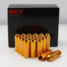 OPEN END GOLD 60MM 20PC ALUM. TUNER LUG NUT M12X1.5mm FOR S2000 SC300 SC400 RX8