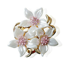 lady Jewelry Rhinestone Threeflowers Brooches Corsage Alloy Garment Brooch Pin