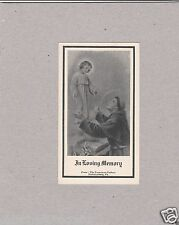 Vintage Catholic Holy Bible Prayer Card 1954 from The Franciscan Fathers In USA