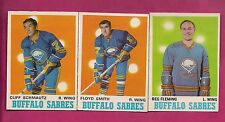 1970-71 OPC SABRES SCHMAUTZ RC + FLEMING + SMITH  CARD (INV# A1909)