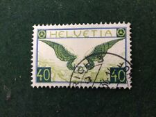 Switzerland 40c Green & Blue Superb Used SG 322a Air 1923 Helvetia C/V £120.00.