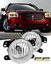 2005-2008 Dodge Magnum Front Replacement Fog Lights Clear Lens Housing PAIR