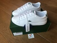 Lacoste Junior Boys Girls White Carnaby EVO 318 Trainers Brand New Boxed