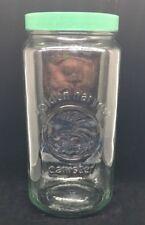 GOLDEN HARVEST Large Canister Glass Storage Jar w/ GREEN Screw On Lid 64 oz