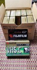 (10) Case Fuji Pro TC-30 VHS-C Camcorder tapes Premium High Grade Quality