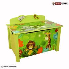 Spielzeugkiste Kinder Spielkiste Dschungel Neu Spielzeugtruhe Box grün
