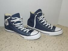 Nice Mens Size 12 Converse Chuck Taylor All Stars Blue Cloth High Top Shoes