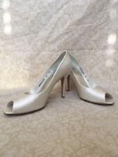 Stuart Weitzman France Ivory Satin, Women's Shoes, Size 8M