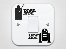 Light And Dark Side Star Wars Design (R2D2 Edition) Light Switch Stickers/Decal