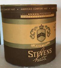 Vintage Stevens Hats Large Oval Hat Box
