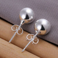 New Fashion Chic Sterling Solid Silber Ohrringe Fashion Ball Ohrstecker KTXUI