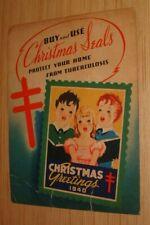 New Listing1940 Christmas Seals Rare Display Poster