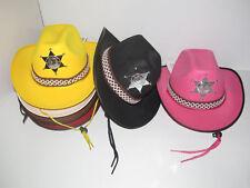 Lot x6 Chapeau Enfant Sheriff avec Lacet Taille Unique NEUF