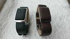 Bioflow Executive Black or Brown leather magnetic wrist strap unit