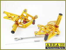 2011-2014 Honda CBR250R Area 22 CNC Adjustable Rear Sets Footpeg Gold Rearsets