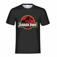 Classic Dinosaur Movie Jurassic Park Logo T-shirt Men's Basic Shirt Casual Tees