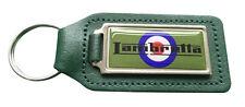 LAMBRETTA Target Quality Green Leather Keyring