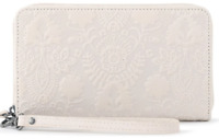 The Sak Silverlake Wristlet Wallet Phone Pocket Embossed Leather Zip Around NEW
