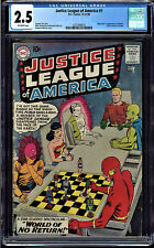 JUSTICE LEAGUE OF AMERICA #1 CGC 2.5 1ST JLA IN THEIR OWN TITLE CGC #2037498016