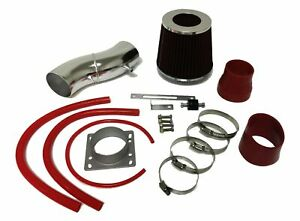 Red For 1991-1999 Nissan Sentra 1.6L L4 Air Intake System Kit + Filter