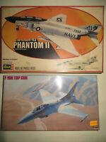 F-4J PHANTOM II REVELL F-16N TOP GUN HASEGAWA SCALA 1:48